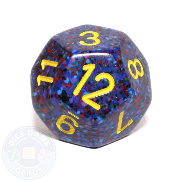 d12 - Speckled Twilight 12-sided Dice