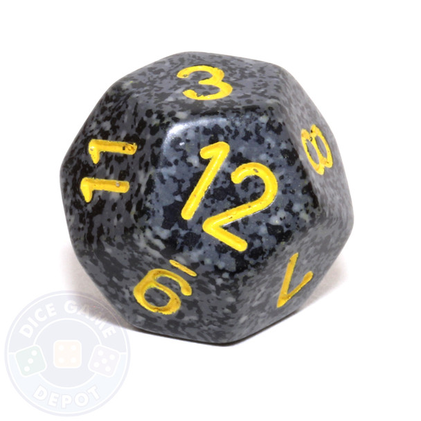 d12 - Speckled Urban Camo 12-sided Dice
