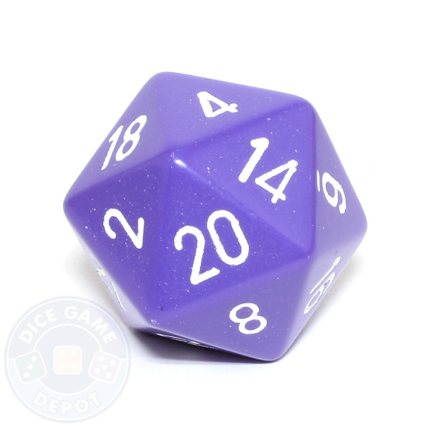 Big d20 - 34mm opaque purple dice