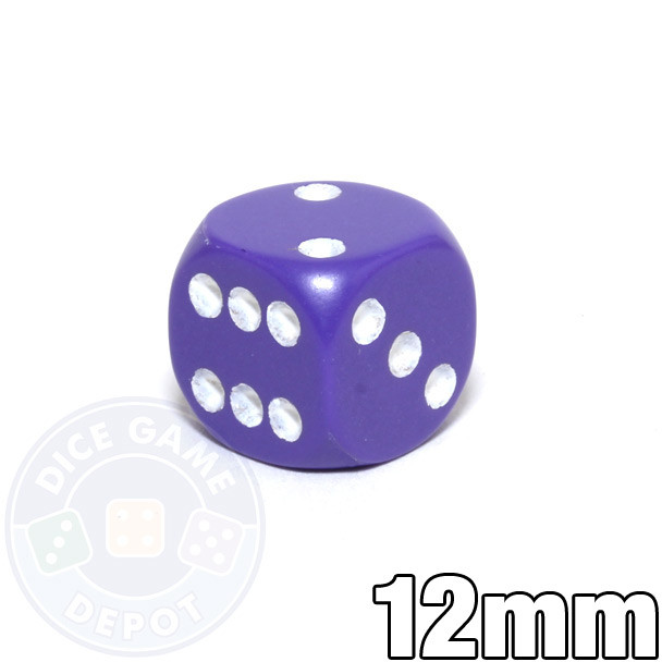 Purple dice - 12mm opaque round-corner