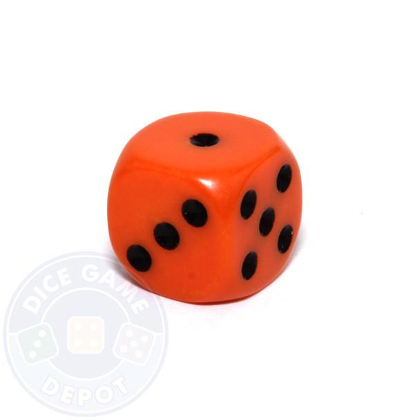 Round-corner 12mm opaque dice - Orange