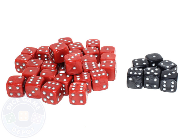 Set of 36 wargame dice - Red