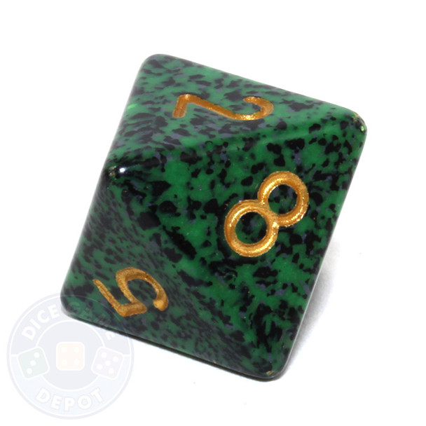 d8 - Speckled Golden Recon 8-sided Dice