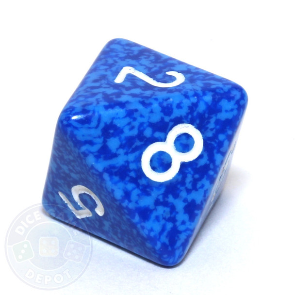 d8 - Speckled Water 8-sided Dice