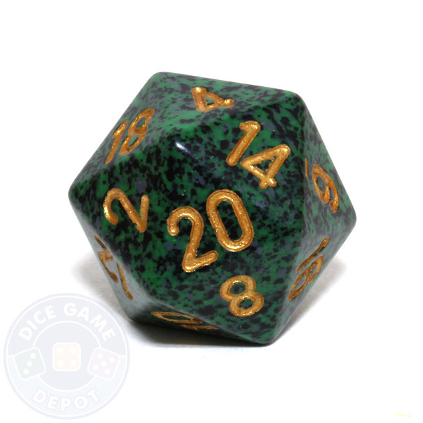 d20 - Speckled Golden Recon 20-sided Dice