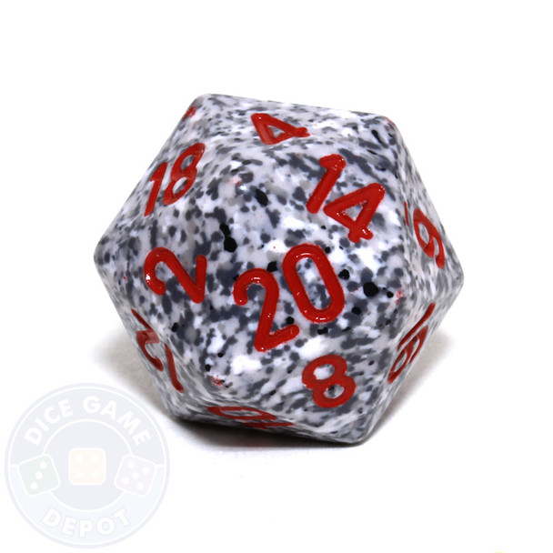 d20 - Speckled Granite 20-sided Dice