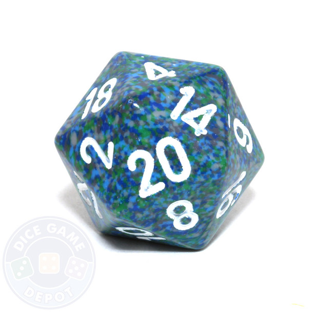 d20 - Speckled Sea 20-sided Dice