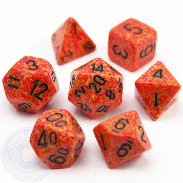 7-Piece Polyhedral Dice Set - Elemental Fire