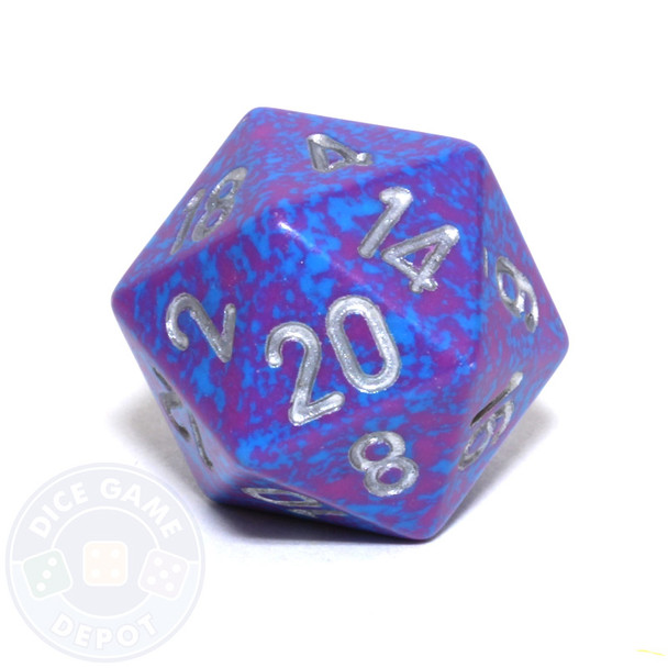 d20 - Speckled Silver Tetra 20-sided Dice