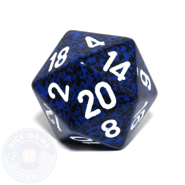 d20 - Speckled Stealth 20-sided Dice