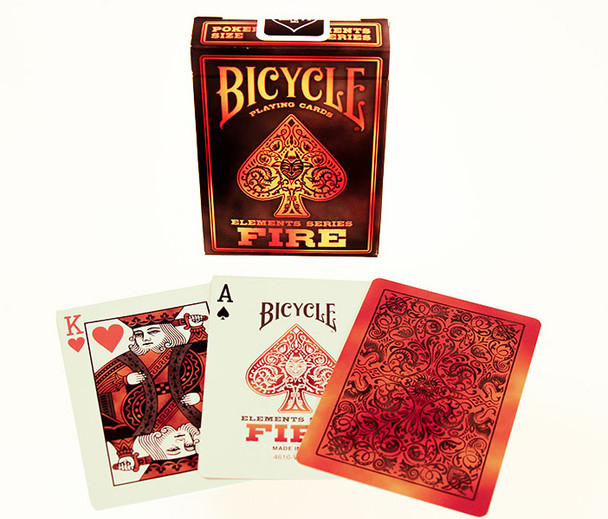 Bicycle playing cards - Fire