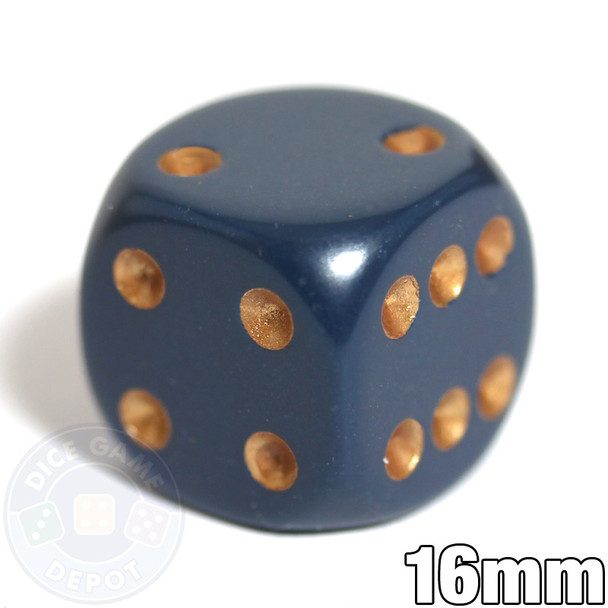 Dusty Blue 6-sided dice - Round corners - 16mm