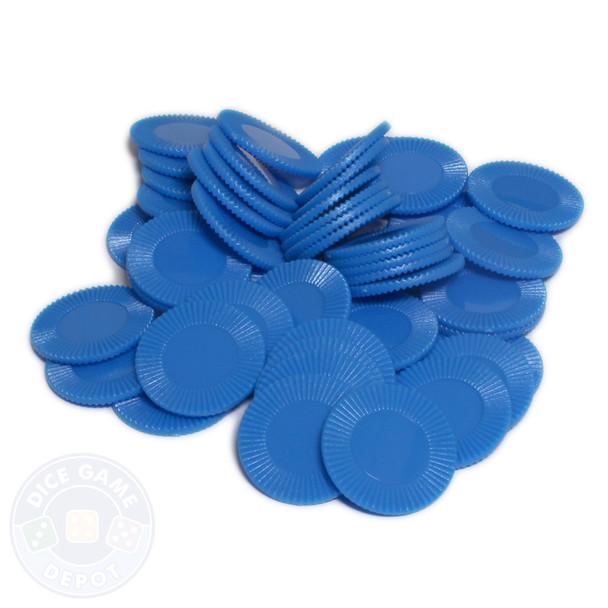 Mini poker chips - Blue