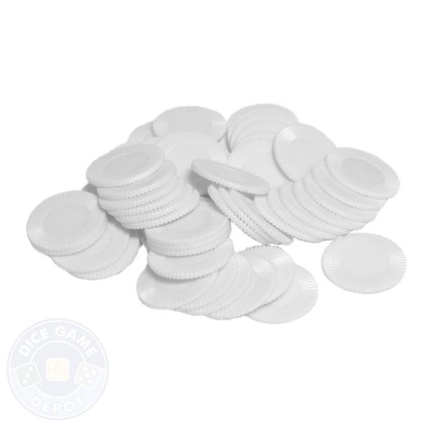Mini poker chips - White