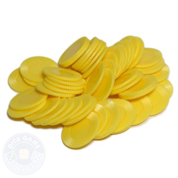Mini poker chips - Yellow