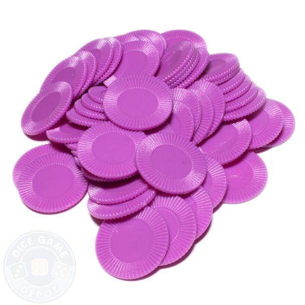 Purple mini poker chips