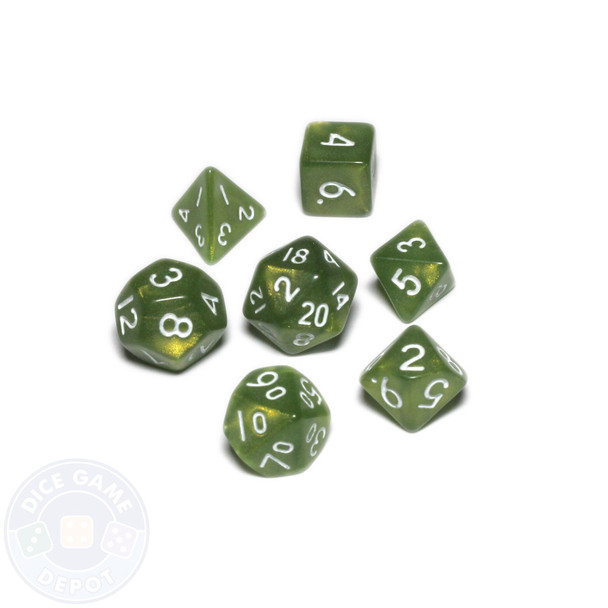 Mini dice set - Alchemical Elements - Troll Snot