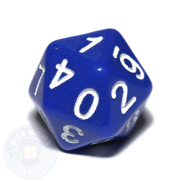 0-9 dice - 20-sided - Blue