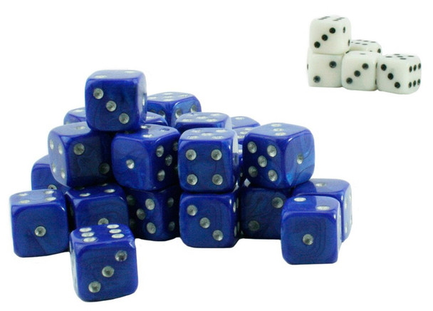 Wargame dice - Blue and white