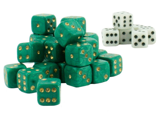 Wargame dice - Green and white