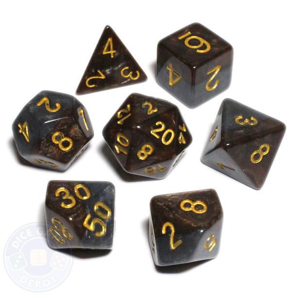 Halfsies dice set - D&D dice - Dwarf