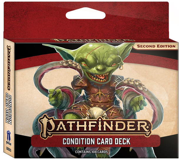 Condition card deck for Pathfinder 2E