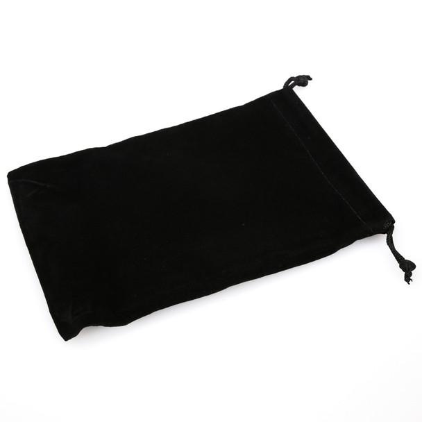 Large suedecloth dice bag - Black