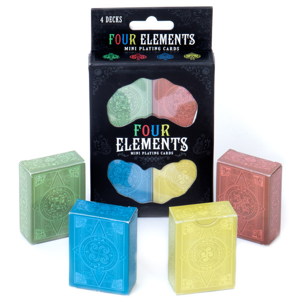 Four Elements Mini Playing Cards 4-pack