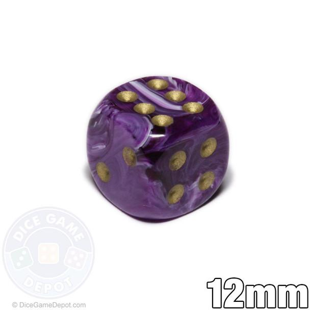 Purple Vortex dice - 12mm d6