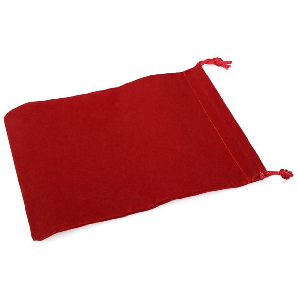 Large red velveteen dice bag