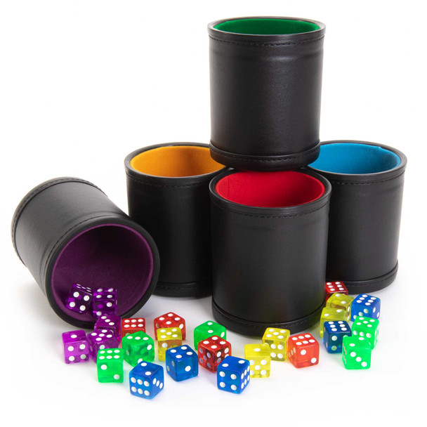 Dice Cups - Game Night Pack of 5