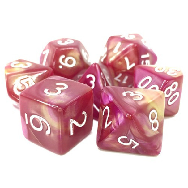 7-piece Fusion dice set - D&D dice - Sharazad's Tale