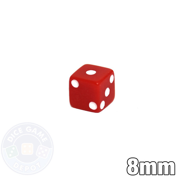 8mm Opaque Dice - Red