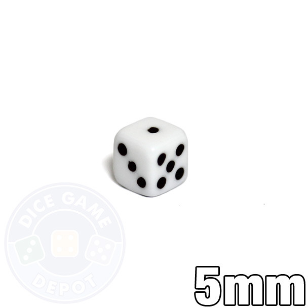 Small 5mm white dice