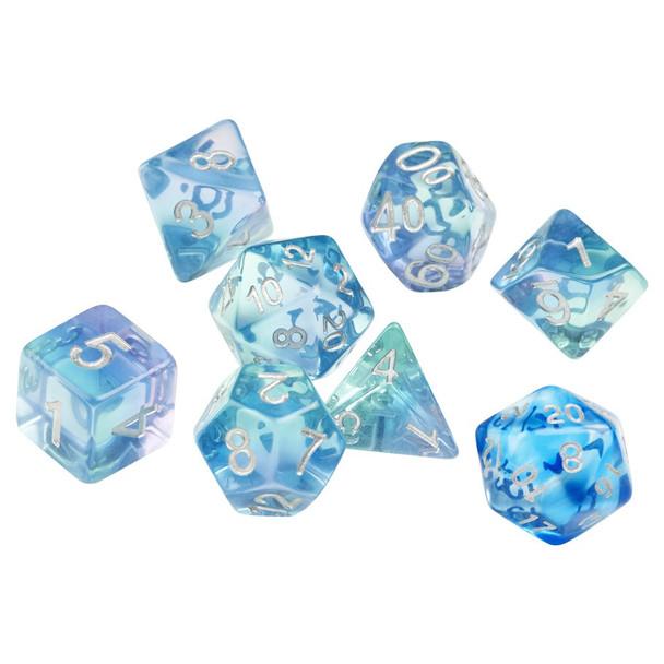 D&D dice set - Emerald Waters
