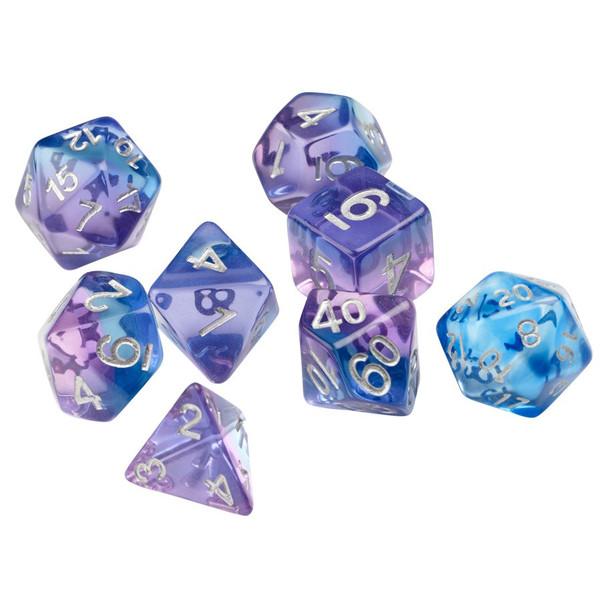 D&D dice set - Violet Betta
