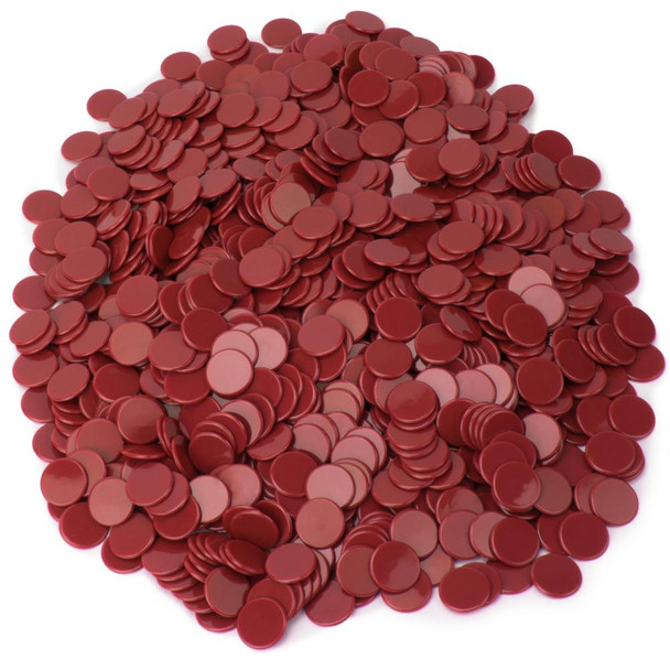 Pack of 1000 Bingo chips - Red