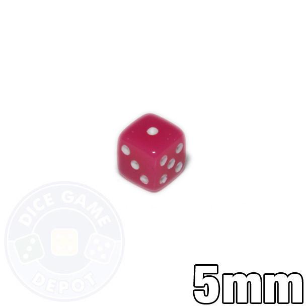 5mm Opaque Pink Dice