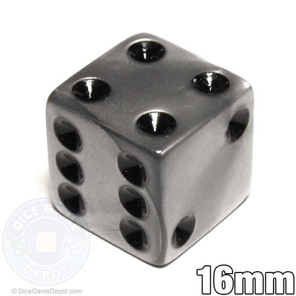 Silver-colored olympic pearlized dice