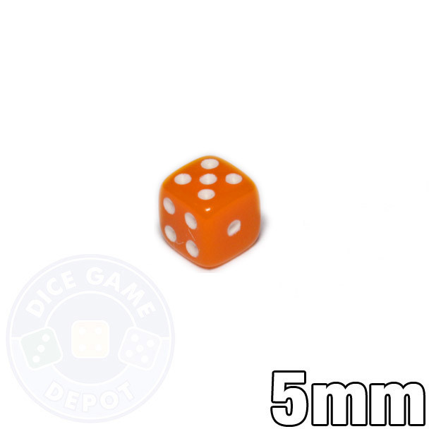5mm Opaque Orange Dice