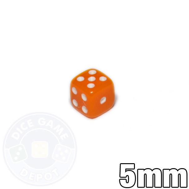 5mm Opaque Orange Dice