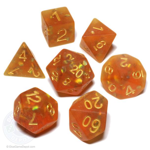 Hidden Reef dice set - D&D dice - Polyhedral set