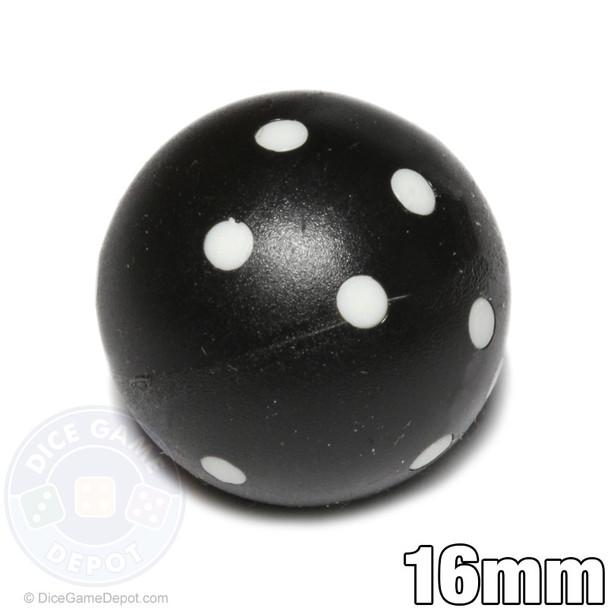 Black round dice