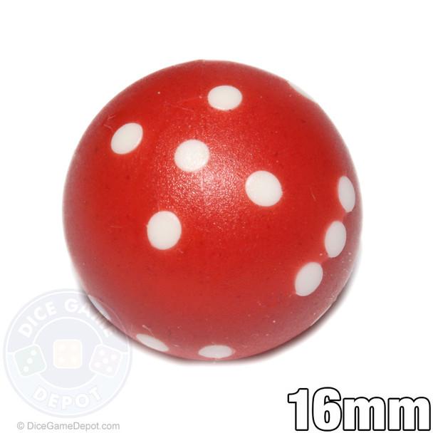Red round dice