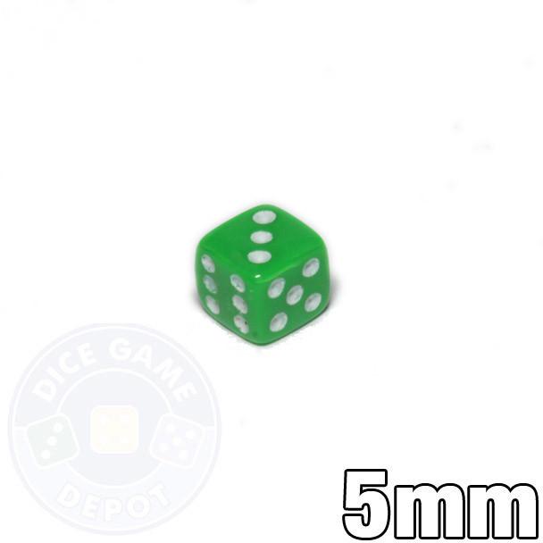 5mm Opaque Green Dice
