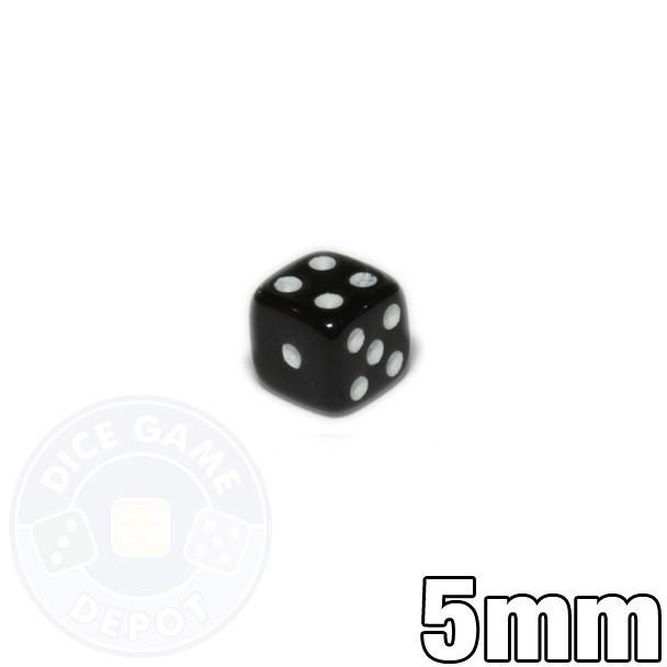 5mm Opaque Black Dice