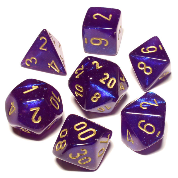Royal Purple Borealis Dice Set - DnD dice