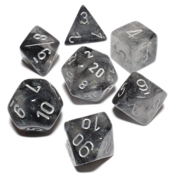 Smoke Borealis Luminary dice set - DnD dice