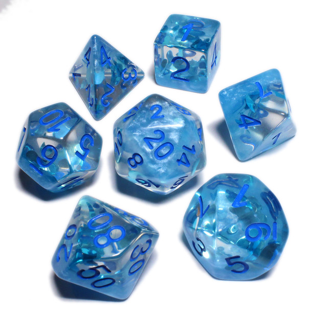 Summer season dice set - Polyhedral D&D dice