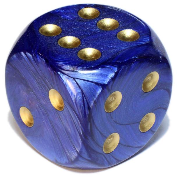 50mm Scarab Royal Blue Dice